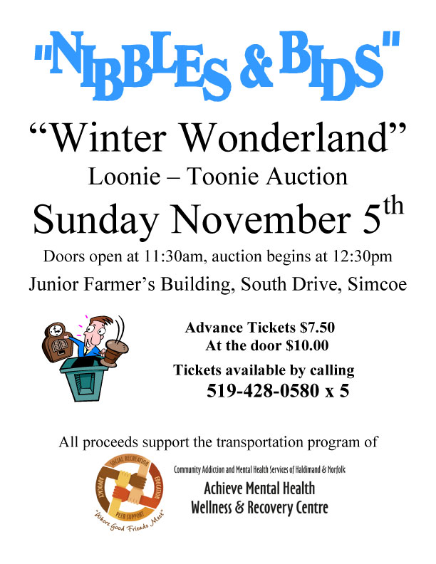 Winter Wonderland Loonie-Toonie Auction Poster